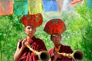 Prayer Ceremony Buddhist Monks