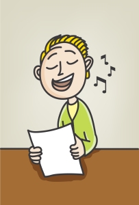 singer songwriter cartoon
