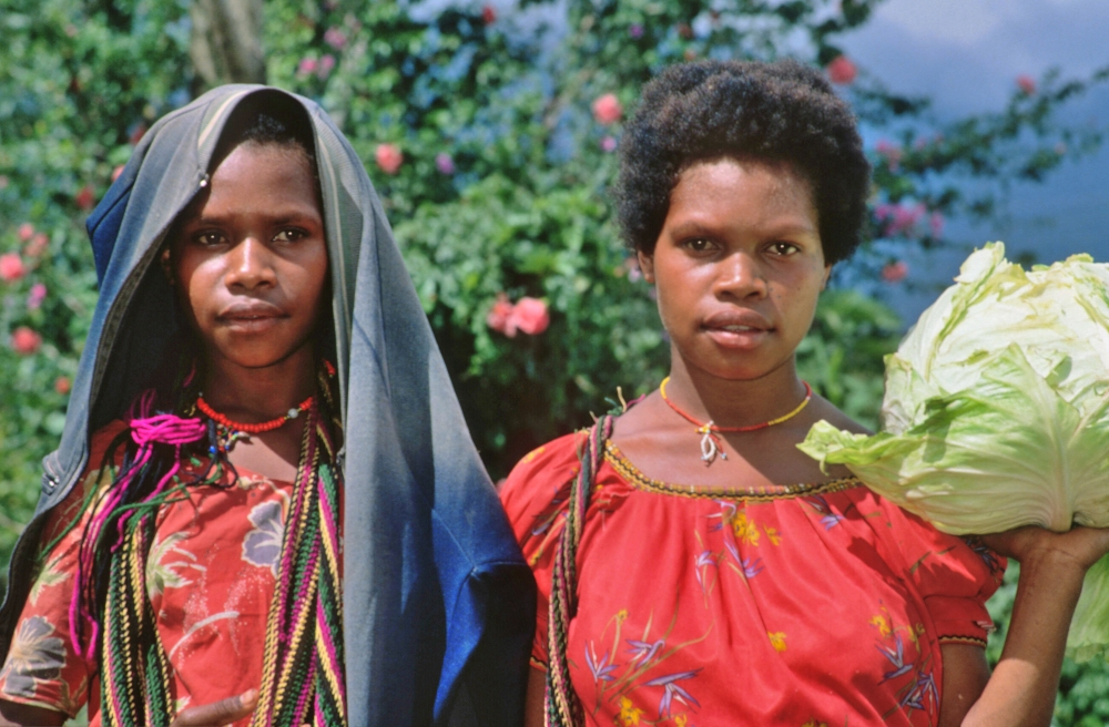Women with cabbage Papua New Guinea