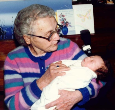 Great Grandmother and Newborn Baby
