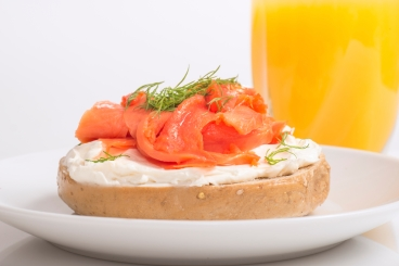Lox Cream Cheese Bagel