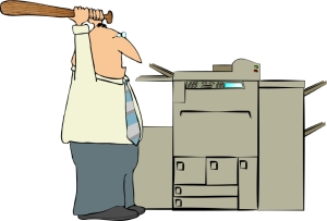Cartoon Man Copying Machine