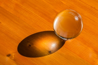 Glass ball with shadow